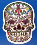 Strijkapplicatie skul nr5 sugar skull