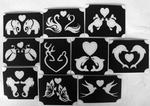 Glitter Tattoo LOVE ANIMALS  1 set van 10 sjablonen