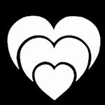 Glitter Tattoo hearts harten
