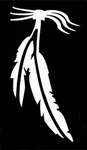 Glitter Tattoo feathers nr2 veren
