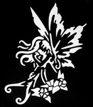 Glitter Tattoo fairy shy fee verlegen