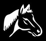 Glitter Tattoo horse head paard