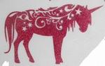 Strijkapplicatie unicorn tribal eenhoorn
