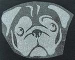 Strijkapplicatie pug hond