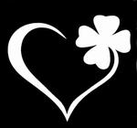 Glitter Tattoo clover 4 klavertje 4 hart