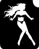 Glitter Tattoo GIRL ON BEACH meisje strand