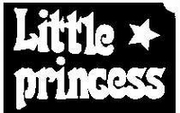 Glitter Tattoo PRINCESS LITTLE kleine princes