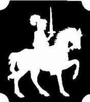GlitterTattoo KNIGHT ridder op paard