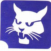 Glitter Tattoo WILD CAT wilde kat