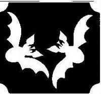 Glitter Tattoo HALLOWEEN BATS vleermuizen