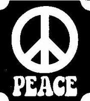 Glitter Tattoo PEACE vredesteken