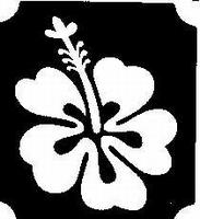 Glitter Tattoo FLOWER HIBISCUS 2 bloem