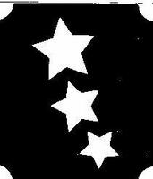 Glitter Tattoo STARS 3 sterren