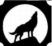 Glitter Tattoo WULFHOWLING huilende wolf