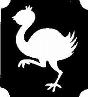 Glitter Tattoo OSTERICH struisvogel